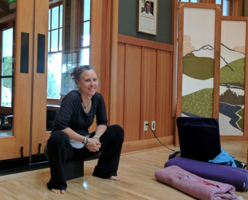 Laura Yon at yoga retreat at Harmony Hill Retreat Center